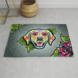 Golden Retriever - Day of the Dead Sugar Skull Dog Rug