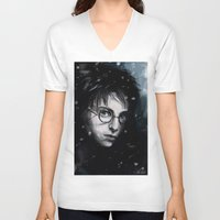 harry V-neck T-shirts featuring Harry by LucioL