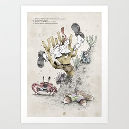 Real Life SpongeBob - Natural History Variant Art Print