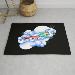 Listening to the music in the clouds Rug
