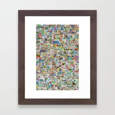 Soccer Stamps Framed Art Print