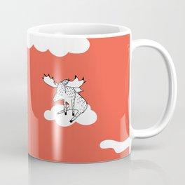 Flying Moose by Amanda Jones Coffee Mug