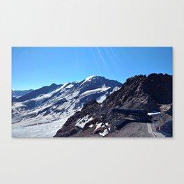 glacier end 3 kaunertal alps tyrol austria europe Canvas Print