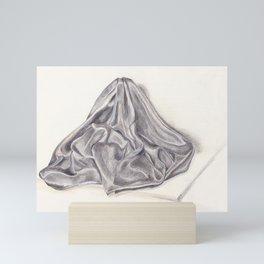 Black Fabric Drawing Mini Art Print