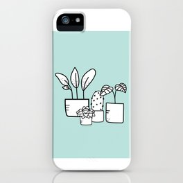 Minimalist House Plants iPhone Case