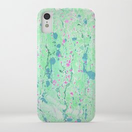 Spring Rain marbleized print iPhone Case