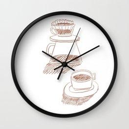 coffee hand-drip time Wall Clock
