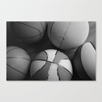 basketball Canvas Prints featuring Basketball by Sary and Saff
