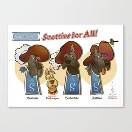 Scotties for all! Canvas Print