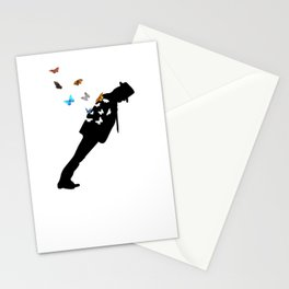 Anti-Gravity Lean Some Colorful Butterflies Stationery Cards