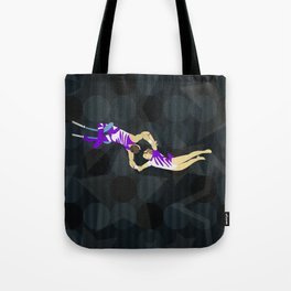 Flying Trapeze Circus Performance Tote Bag