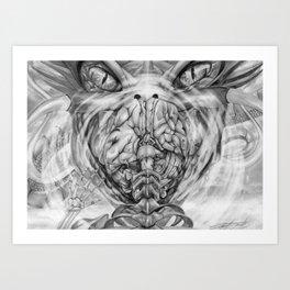 Wrath of the dragon Art Print