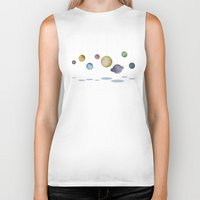 solar system Biker Tanks featuring The Solar System by J Arell