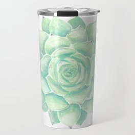 Watercolour succulent Travel Mug
