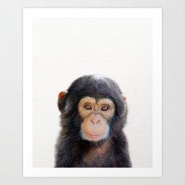 Baby Monkey, Baby Animals Art Print By Synplus Art Print