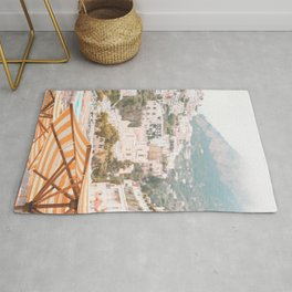 Positano, Italy Summer Time Photography Rug