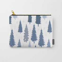 Pines and snowflakes pattern Carry-All Pouch