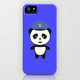 Panda Police Officer iPhone Case