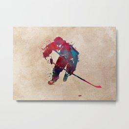 Hockey player 1 #hockey #sport Metal Print