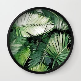 Life is better with palm trees #painting Wall Clock