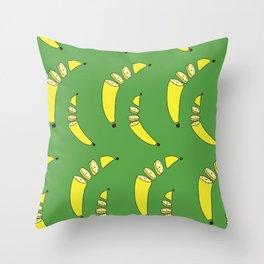 Chopped Banana Throw Pillow