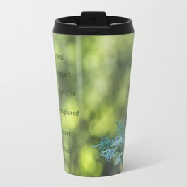 Tree trunk with nature words Travel Mug