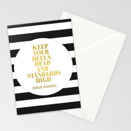 Keep Your Heels, Head And Standards High Digital Print Instant Stationery Cards