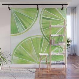 Fresh Lime ~ Summer Citrus Wall Mural