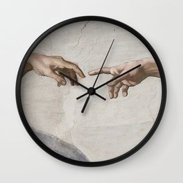THE CREATION OF ADAM - MICHELANGELO Wall Clock
