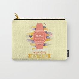 Carpe Diem - Seize the Day [orange] Carry-All Pouch