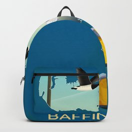 Baffin island Canada travel poster, Backpack
