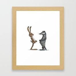 Hare & Badger Framed Art Print
