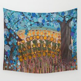 :: Indiana Blue Willow :: Wall Tapestry