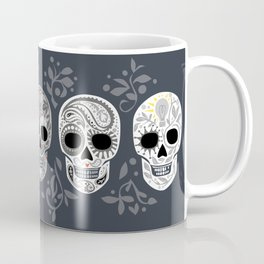 Celebracion de Gris_Calaveras Sugar Skulls line_RobinPickens Coffee Mug
