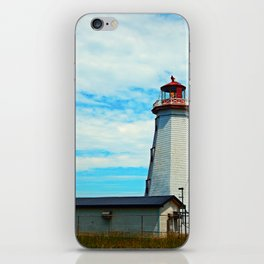 Red Light of North Cape Lighthouse iPhone Skin