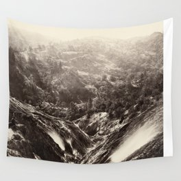 Devil's Canyon, geysers, looking down Wall Tapestry