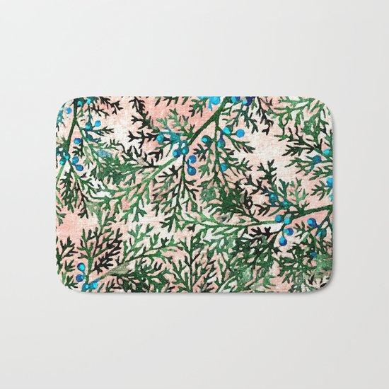 Botanical Watercolor Art #society6 #decor #buyart Bath Mat