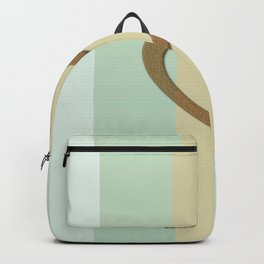 Big Gold Heart Pastel Green Yellow Romantic Love Backpack