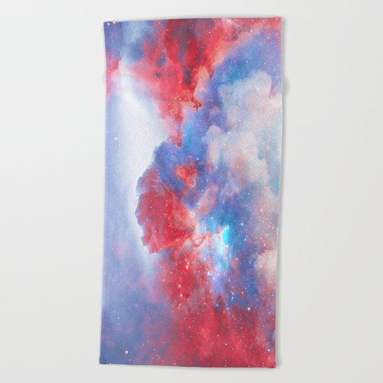 Stay with me between the Clouds and your Dreams Beach Towel