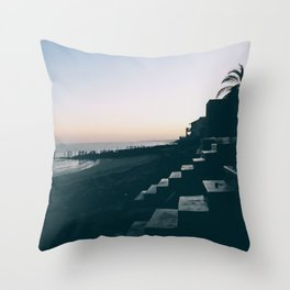 Sun Set Silhouette Throw Pillow