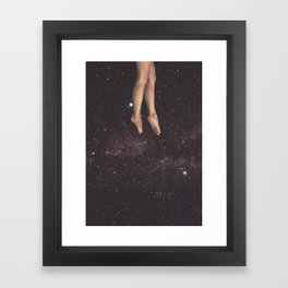 Hanging in space Framed Art Print