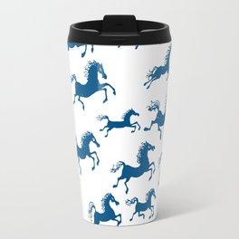 horses in a dream Travel Mug