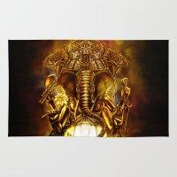 ganesha Area & Throw Rugs featuring Ganesha by Giorgio Finamore