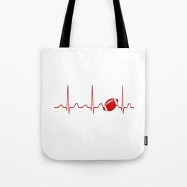 FOOTBALL HEARTBEAT Tote Bag