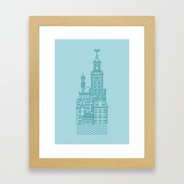 Stockholm (Cities series) Framed Art Print