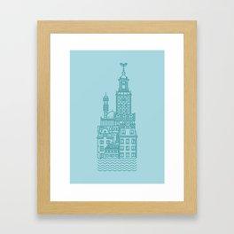 Stockholm (Cities series) Framed Art Print