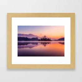 Bled, Slovenia Landscape Framed Art Print
