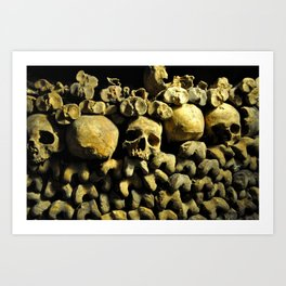 Empire of the Dead - Catacombs of Paris Art Print