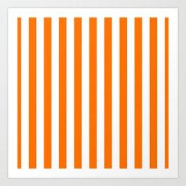 Turmeric Orange Beach Hut Vertical Stripe Fall Fashion Art Print