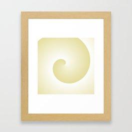 Yellow Spiral Framed Art Print